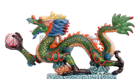 chinese dragon on white backgrounds