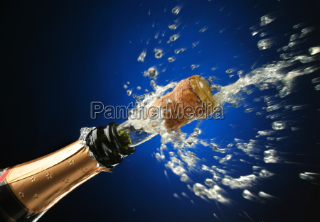botella de champan listo para la