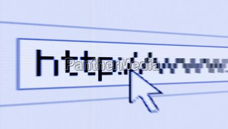 konzept surfen im internet