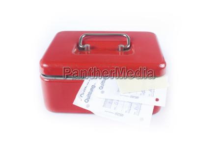 rote geldkassette