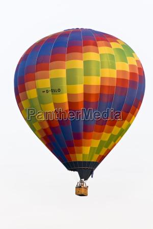 aufgestiegener heissluftballon