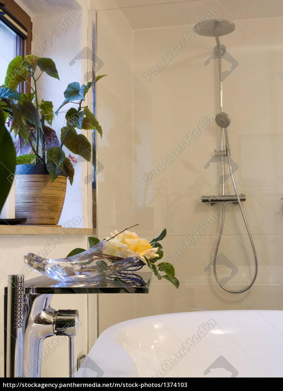 bad modern detail armatur dusche - lizenzfreies bild - #1374103