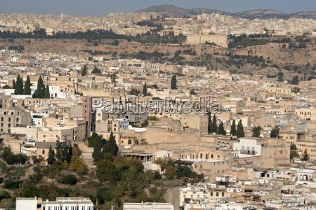 blick auf fes marokko