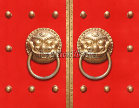 red chinese door