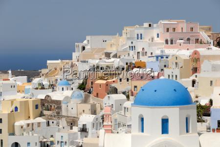view of the city oia santorini
