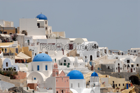cityscape of oia santorini
