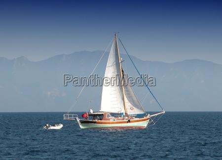 sailboat turkish coast bodrum