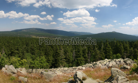 panoramabild brocken im harz