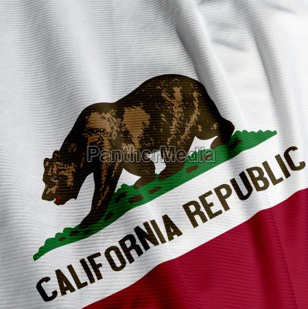 california flagge closeup