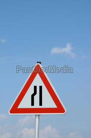 roadway narrowing