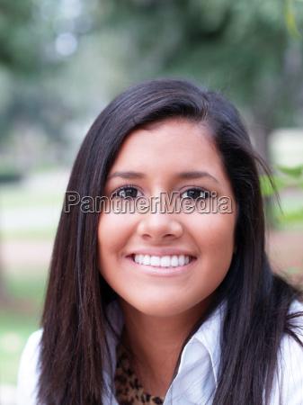 young hispanic teen girl outdoor