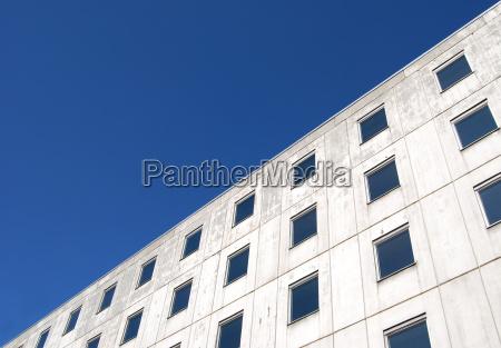 blue house building blank european caucasian