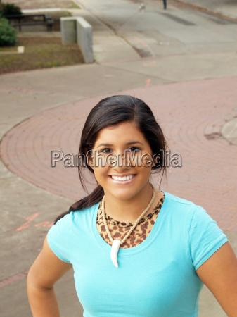 young hispanic teen girl portrait