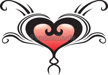 heart crest tattoo