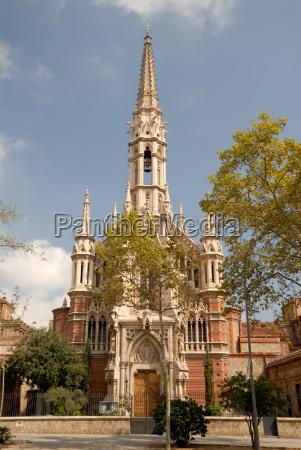 gotische kirche in barcelona spanien