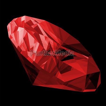 freisteller illustration abgeschieden diamant isolierte rubinrot