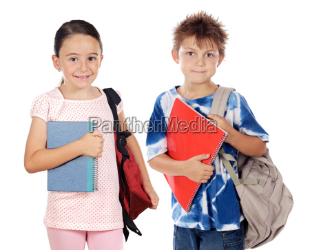 two children students