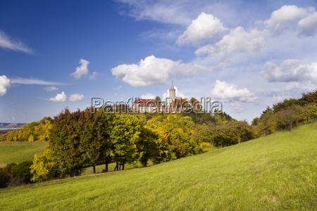 the leuchtenburg in autumn
