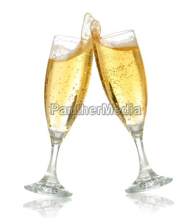 celebration toast mit champagner