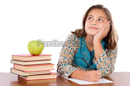 adorable student denken