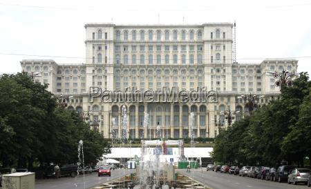 parlament monumental regierung praesident rumaenien bukarest