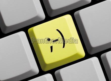 emoticon zwinkern