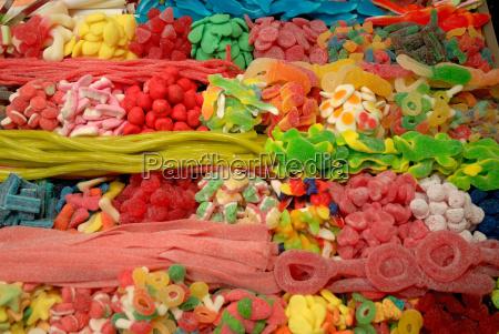 sweets at market in barcelona u200bu200bspain