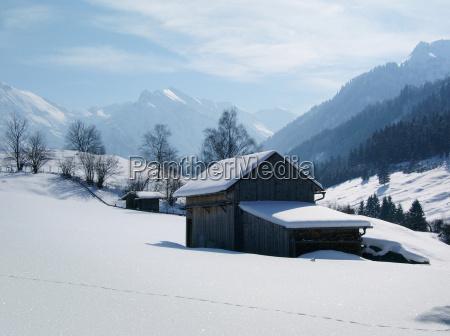 winterlandschaft im allgaeu
