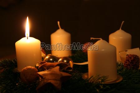 vela advenimiento domingo de adviento navidad