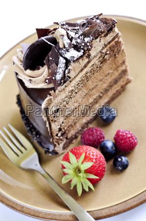 stueck schokoladenkuchen