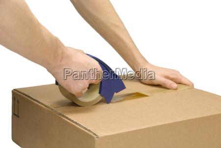 paket fuer versand vorbereiten