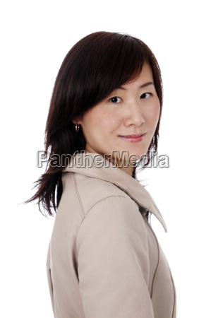 asian chinese businesswoman with coat
