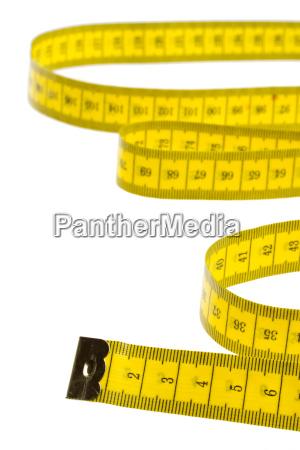 gelbes massband isoliert