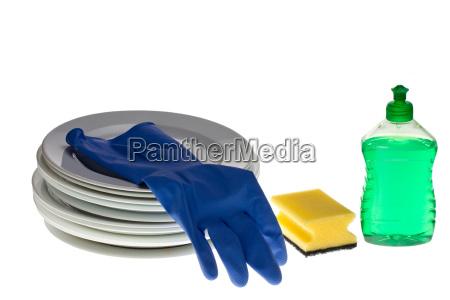 geschirrspuel utensilien isoliert