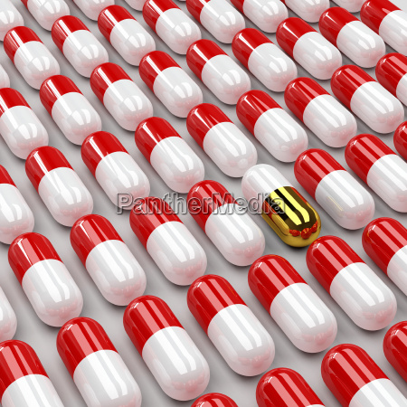 pills 3d background