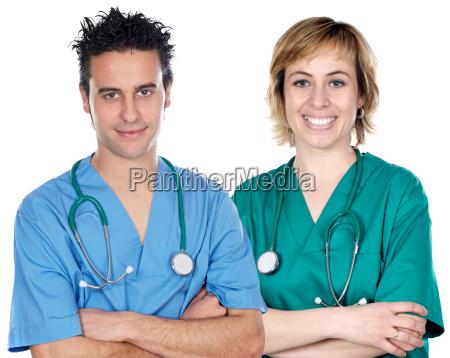 ein paar junge AErzte