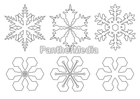 zeichnungen von schneeflocken