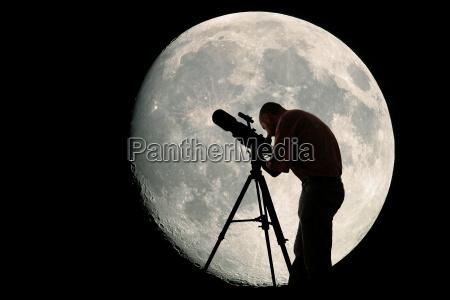 astronom und mond