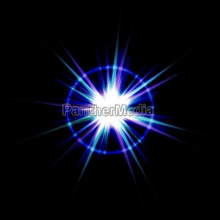 helle lens flare burst