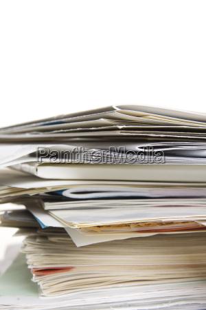 stapel von papieren