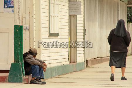 beggars and nun