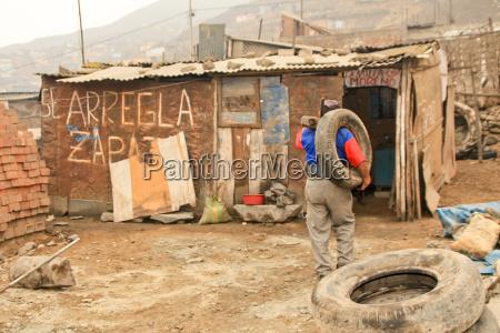 man in slums