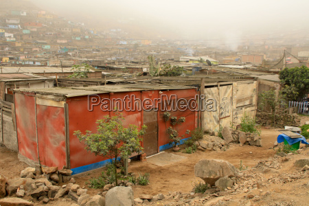 hütten, in, slums, , lima - 1681711