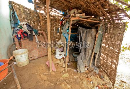toilette, in, slums, (lima, , peru) - 1681941