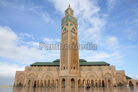 hassan ii moschee in casablanca marokko