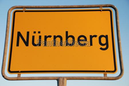 nuremberg town sign sign