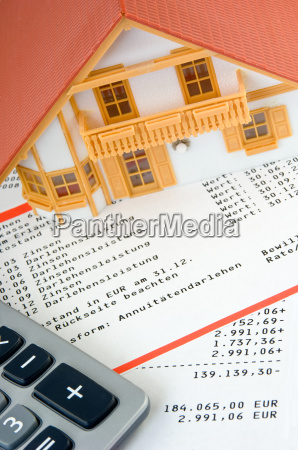 model house on loan account extract