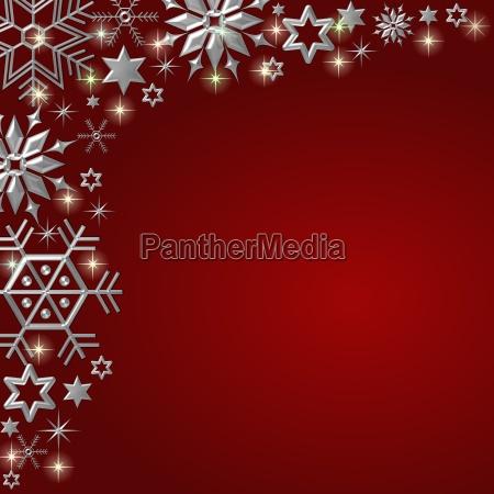weihnachtsrahmen eiskristalle rot
