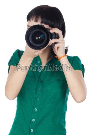 maedchen nehmen foto