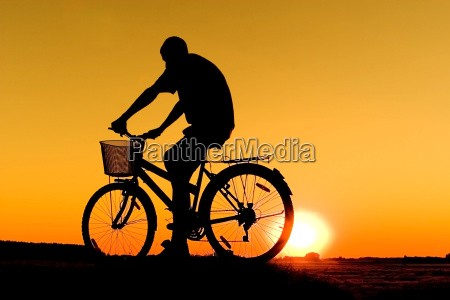man and bike silhouette